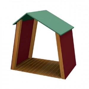 Caseta, material exterior, muebles de exterior, mobiliario de exterior, decoración escolar, niños, material escolar, ludoteca, equipamiento de guardería, equipamiento escolar infantil, material infantil, jardín de infancia