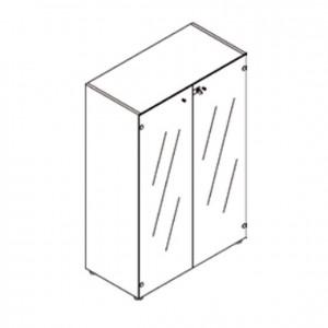 Mueble medio con 2 puertas de vidrio, GU0000162, mobiliario escolar, mobiliario y equipamientos para servicios generales.