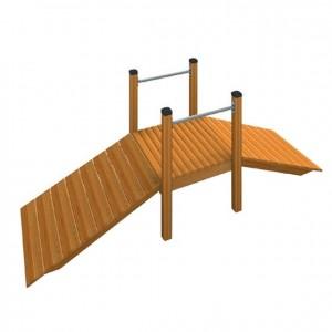 Puente de madera para exterior, material exterior, muebles de exterior, mobiliario de exterior, decoración escolar, niños, material escolar, ludoteca, equipamiento de guardería, equipamiento escolar infantil, material infantil, jardín de infancia