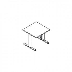 """Mesa dactilografía, lados en """"T"""", GU0000078, mobiliario escolar, mobiliario y equipamientos para servicios generales."""