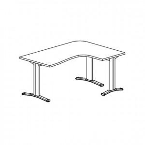 Escritorio angular, GU0000073, mobiliario escolar, mobiliario y equipamientos para servicios generales.