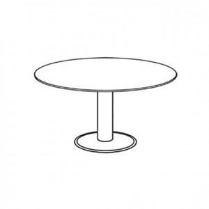 Mesa ovalada, GU0000061, mesa de reuniones, mobiliario escolar, mobiliario y equipamientos para servicios generales.