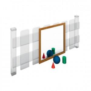 Espejo, material exterior, muebles de exterior, mobiliario de exterior, decoración escolar, niños, material escolar, ludoteca, equipamiento de guardería, equipamiento escolar infantil, material infantil, jardín de infancia