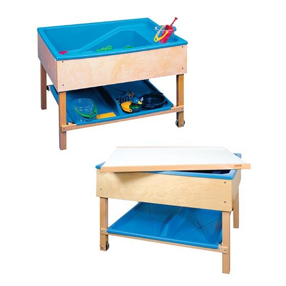 Mesa para agua y arena equipamiento escolar infantil - Mesa madera infantil ...