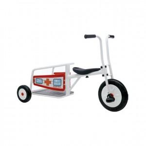Triciclo ambulancia GC0000358, Juegos y actividades infantiles, juguetes de madera, material para niños, decoración escolar, material escolar, ludoteca, equipamiento de guardería, equipamiento escolar infantil, material infantil, jardín de infancia
