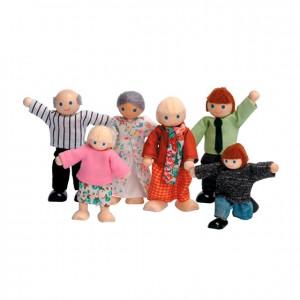 Familia para casa de muñecas, GC0000231, Juegos y actividades infantiles, juguetes de madera, material para niños, decoración escolar, material escolar, ludoteca, equipamiento de guardería, equipamiento escolar infantil, material infantil, jardín de infancia