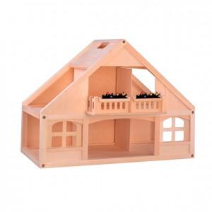 Casa para muñecas de madera, GC0000228, Juegos y actividades infantiles, juguetes de madera, material para niños, decoración escolar, material escolar, ludoteca, equipamiento de guardería, equipamiento escolar infantil, material infantil, jardín de infancia