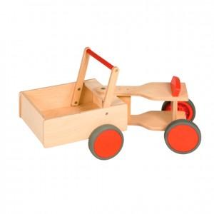 Tractor de madera, tractor de juguete, GC0000217, Juegos y actividades infantiles, juguetes de madera, material para niños, decoración escolar, material escolar, ludoteca, equipamiento de guardería, equipamiento escolar infantil, material infantil, jardín de infancia