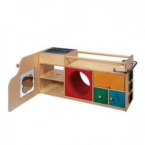 Mueble primeros pasos con panel sensorial, GA0280100, juego y actividades, material para niños, decoración escolar, material escolar, ludoteca, equipamiento de guardería, equipamiento escolar infantil, material infantil, jardín de infancia