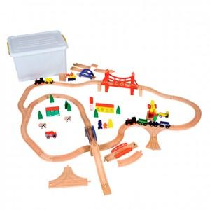 Juego de construcciones de madera: coches y trenes, GC0000203, Juegos y actividades infantiles, juguetes de madera, material para niños, decoración escolar, material escolar, ludoteca, equipamiento de guardería, equipamiento escolar infantil, material infantil, jardín de infancia