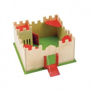 Castillo de madera, GC0000192, Juegos y actividades infantiles, juguetes de madera, material para niños, decoración escolar, material escolar, ludoteca, equipamiento de guardería, equipamiento escolar infantil, material infantil, jardín de infancia