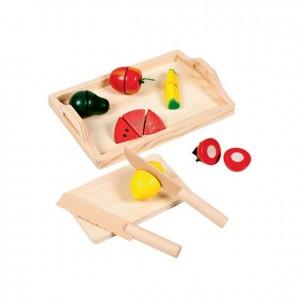 Tabla de cortar frutas, GC0000190, Juegos y actividades infantiles, juguetes de madera, material para niños, decoración escolar, material escolar, ludoteca, equipamiento de guardería, equipamiento escolar infantil, material infantil, jardín de infancia
