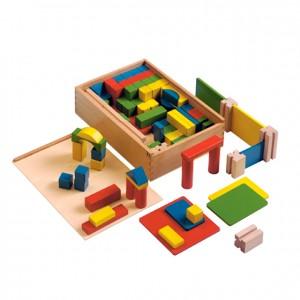 Juego de construcciones de madera, GC0000185, Juegos y actividades infantiles, juguetes de madera, material para niños, decoración escolar, material escolar, ludoteca, equipamiento de guardería, equipamiento escolar infantil, material infantil, jardín de infancia