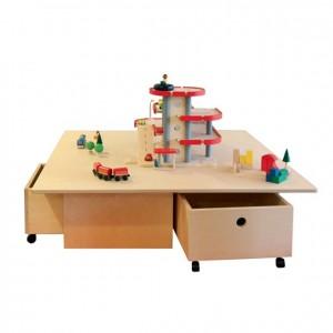 Mesa de juegos con cajones GA0268300, elementos para juegos y actividades, material para niños, decoración escolar, material escolar, ludoteca, equipamiento de guardería, equipamiento escolar infantil, material infantil, jardín de infancia