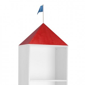Cubierta campanario rojo, parte superior armario, GA0253700, mobiliario de almacenaje, material para niños, decoración escolar, material escolar, ludoteca, equipamiento de guardería, equipamiento escolar infantil, material infantil, jardín de infancia
