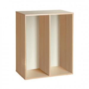Mueble de dos estantes, GA0252704, mobiliario de almacenaje, material para niños, decoración escolar, material escolar, ludoteca, equipamiento de guardería, equipamiento escolar infantil, material infantil, jardín de infancia
