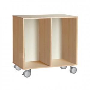 Mueble bajo con ruedas, GA0251802, Material de almacenaje, Mobiliario escolar infantil, jardín de infancia, educación infantil, Montessori.