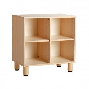 Mueble bajo con casillas, Mueble con casillas, casillero, estantería con casillas, GA0251801, Material de almacenaje, Mobiliario escolar infantil, jardín de infancia, educación infantil, Montessori.