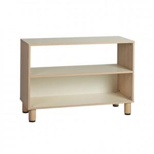 Mueble bajo con un estante pasante, estantería baja, GA0251100, mobiliario de almacenaje, mobiliario, Material de almacenaje, material escolar infantil.