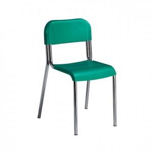 Silla de metal y plástico apilable, silla de colores, GA0247402, mesas y sillas, Mobiliario escolar infantil, jardín de infancia, educación infantil, Montessori.