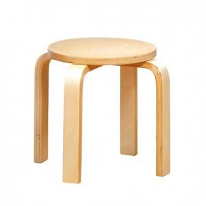 Taburete de madera GA0247302, bordes redondeados, esquinas redondeadas, antigolpes, mesas y sillas, Mobiliario escolar infantil, jardín de infancia, educación infantil, Montessori.