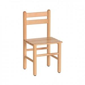 Silla de madera, silla de tablillas, silla ligera, GA0246602, bordes redondeados, esquinas redondeadas, antigolpes, mesas y sillas, Mobiliario escolar infantil, jardín de infancia, educación infantil, Montessori.