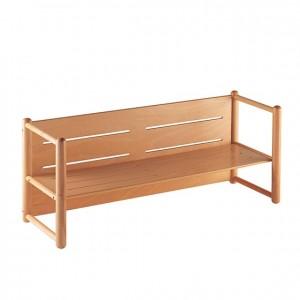 Banco de madera multiusos, GA0245400, bordes redondeados, esquinas redondeadas, antigolpes, mesas y sillas, Mobiliario escolar infantil, jardín de infancia, educación infantil, Montessori.