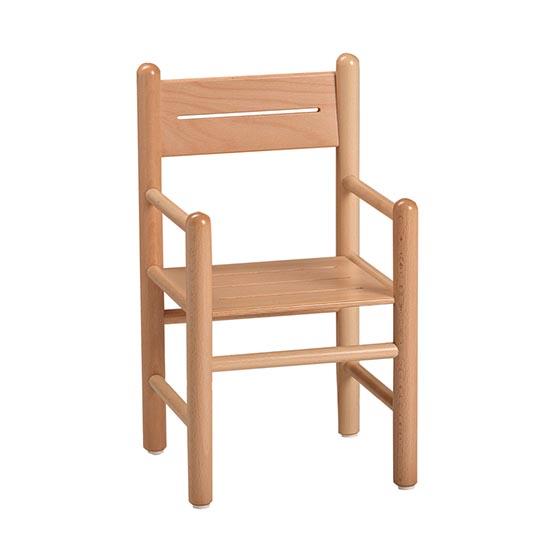 Silla de madera con brazos equipamiento escolar infantil - Silla infantil madera ...