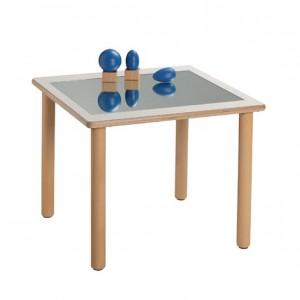 Mesa espejo, mesa de madera, GA0243203, bordes redondeados, esquinas redondeadas, antigolpes, mesas y sillas, Mobiliario escolar infantil, jardín de infancia, educación infantil, Montessori.