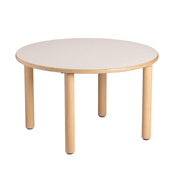 Mesa redonda de madera equipamiento escolar infantil - Mesa infantil madera ...