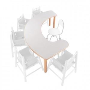 Mesa para papilla, mesa de madera, GA0242402, bordes redondeados, esquinas redondeadas, antigolpes, mesas y sillas, Mobiliario escolar infantil, jardín de infancia, educación infantil, Montessori.
