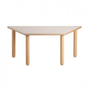 Mesa trapezoidal, mesa de madera, bordes redondeados, esquinas redondeadas, antigolpes, GA0241800, mesas y sillas, Mobiliario escolar infantil, jardín de infancia, educación infantil, Montessori.