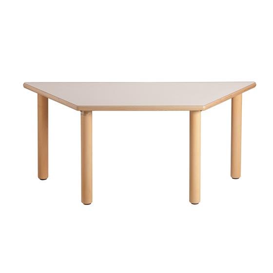 Mesa trapezoidal de madera equipamiento escolar infantil - Mesa madera infantil ...