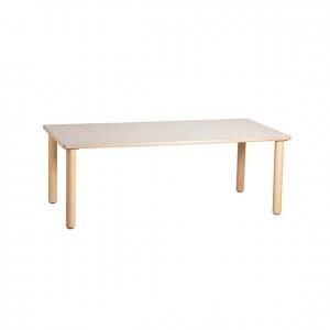 Mesa rectangular, mobiliario infantil escolar, bordes redondeados, antigolpes, GA0241000, Mobiliario escolar infantil, jardín de infancia, educación infantil, Montessori.