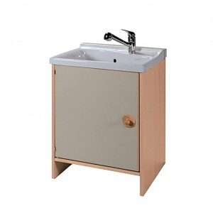 Módulo lavabo con grifo, GA0235400, bañera cerámica, bañera bebés, Mobiliario para la higiene y el cuidado, Mobiliario escolar infantil, jardín deinfancia, educación infantil, Montessori.