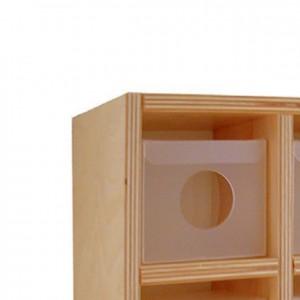 Cajón extraíble porta-chupetes, GA0231301, mobiliario para la higiene y el cuidado mobiliario escolar infantil.