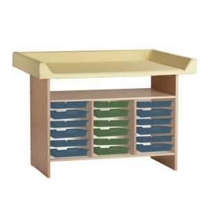 Mueble cambiador, GA0230403, mobiliario para la higiene y el cuidado, mueble cambiador con escalera
