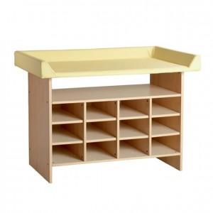 Mueble cambiador casillero, GA0230401, mobiliario escolar, mobiliario y equipamientos para servicios generales.