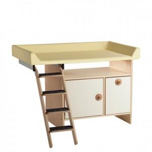 Mueble cambiador, GA0230003, mobiliario para la higiene y el cuidado, mueble cambiador con escalera, mueble cambiador con puertas.