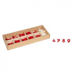 """números y signos """"+"""" y """"-"""", GM0862N00, Material montessori, matemáticas, material escolar."""