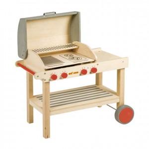 Barbacoa de juguete, barbacoa de madera, Juego cocinita, GC0000215, material escolar, educación infantil.