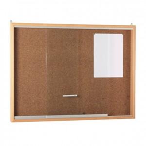 Tablero de anuncios de corcho con bordes en madera de haya GA0301700. Panel de corcho. Mobiliario escolar.