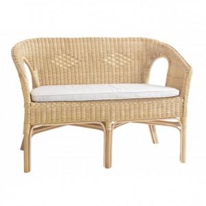 Cojín blanco para sofá de mimbre GA0301501