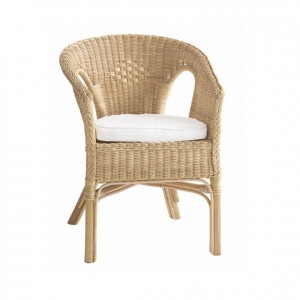 Cojín blanco para sillón de mimbre GA0301401