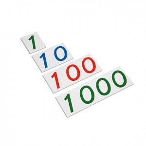 Serie de tarjetas, GM0911N00, material montessori, matemáticas, material escolar infantil.