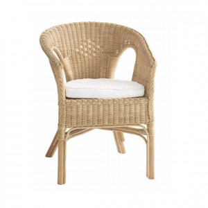 Elegante y cómodo sillón de mimbre con cojín (por separado) para mobiliario escolar GA0301400
