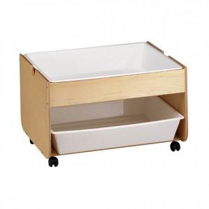 Mueble con ruedas para agua y arena, método maria montessori, escuela infantil GA0261300
