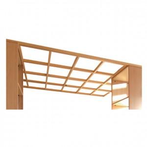 Pérgola de madera para interiores con techo descubierto para escuelas infantiles GA0254900