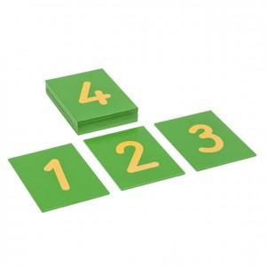 Cifras en papel de lija universal, GM0831N00, números, material montessori, matemáticas, material escolar infantil.
