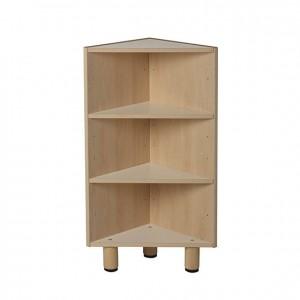 Estantería esquinera infantil de madera para escuelas con 3 estantes GA0252900